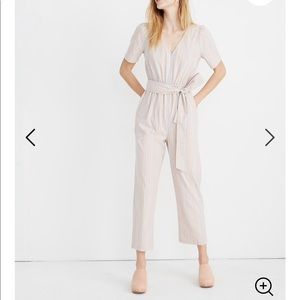 Madewell Striped Jumpsuit